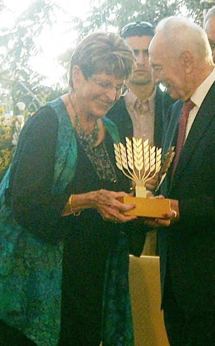 Ada with Shimon Peres c